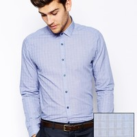 ASOS Smart Shirt In Long Sleeve With Prince Of Wales Check