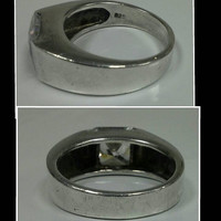 Thick sterling ring with lg square brilliant cz? Nice mod design