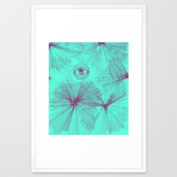 Uncommon Knowledge - Teal Framed Art Print by Ducky B
