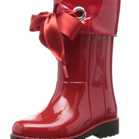 igor Girl's W10104 Red Campera Charol Synthetic Rain Boot