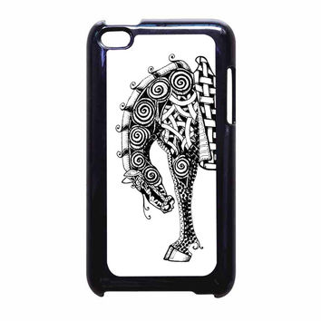 Zentangles zebra 2 iPod Touch 4 Case