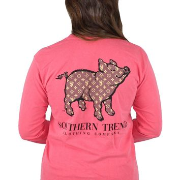 Couture Proud Pig Long Sleeve Tee {Watermelon}
