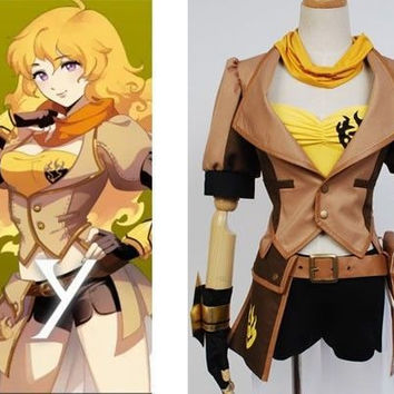 Yang Xiao Long Costume, RWBY Costume, Yang Xiao Long Cosplay