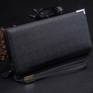 New Style synthetic Leather Famous Design mens wallets and purses multifunction long wallet men Bi-Fold flip wallet #EY