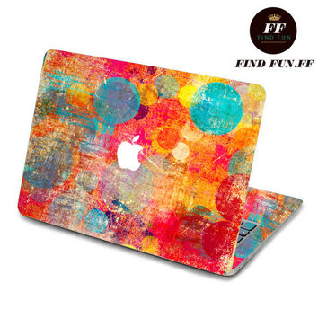 back cover keyboard decal mac pro decals stickers sticker Apple Mac laptop vinyl 3M surprise gift for her him beautiful 油画带蓝点-069