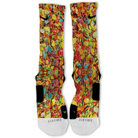 Cereal Fruity Pebbles Fast Shipping!! Nike Elite Socks Customized