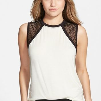 Junior Women's Isabella Rose Taylor Crochet Muscle Tee