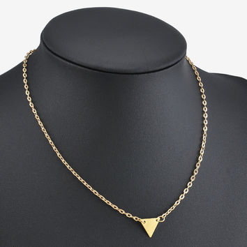 Geometric Triangle Pendant Necklace- Closeout!