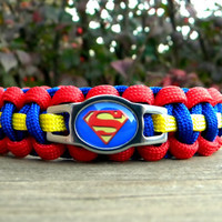 Superman Paracord Bracelet Custom Handmade-Wrist Measurement REQUIRED Please Read Listing Details