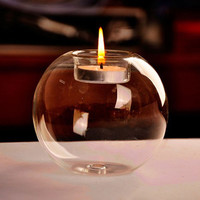 Portable Hot Sale Classic Crystal Glass Candle Holder Wedding Bar Party Home Decor Candlestick #80847