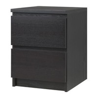 "MALM Chest with 2 drawers, black-brown - black-brown - 15 3/4x21 5/8 "" - IKEA"