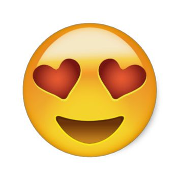 Smiling Face With Heart Shaped Eyes Emoji Round Stickers