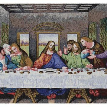 The Last Supper Tapestry Panel Stretched Wall Tapestry