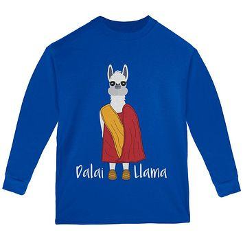 Funny Dalai Lama Llama Pun Youth Long Sleeve T Shirt