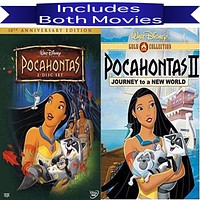 Walt Disney's Pocahontas 1&2 DVD Set 2 Movie Collection