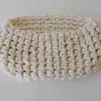 Baby Cocoon Pod  Newborn Pod  Baby Cocoon Nesting Egg Crochet Bowl  Pead Pod Neutral Color Super Chunky