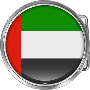 United Arab Emirates Flag Belt Buckle