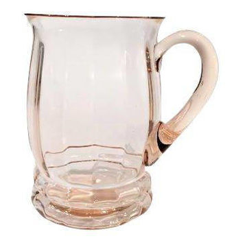 Pink Depression Glass Pitcher, Vintage Glass Iced Tea Pitcher