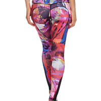 Heart Butt Yoga Legging - Abstract Paint
