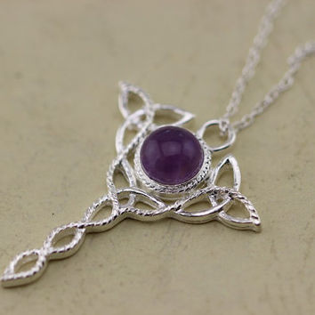 Celtic Knot Pendant Amethyst necklace Christmas gifts