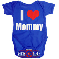 I Heart Mommy Onesuit Love Mommy Baby Creeper Bodysuit One Piece Unisex Boys Girls