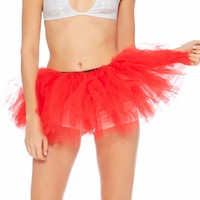 Red Long Length 5-layer Tutu