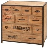 "Iron Wood Metal Chest 33""H, 33""W - Transitional - Dressers Chests And Bedroom Armoires - by AMB FURNITURE & DESIGN"