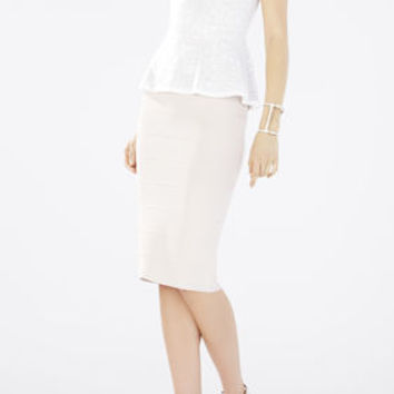 White BCBG Peplum Lyna Sleeveless Top
