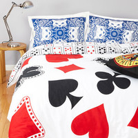 ModCloth Quirky A Royal Plush Duvet Cover in Full, Queen