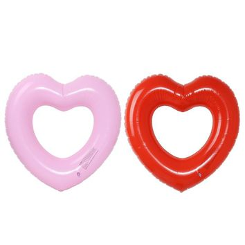 New Heart Shape Inflatable Swimming Ring Pool Float Giant Mattress For Water Fun Toy Hot Sale