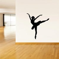 Wall  Decal Vinyl Sticker  Decor Art Bedroom Design Mural Nursery Ballet Gymnastic Ballerina Dancer Silhouette (z2514)