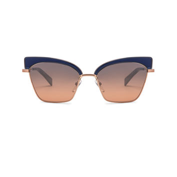 Oliver Peoples x Alain Mikli Alouette Sunglasses in Denim & Rose Gold | FWRD