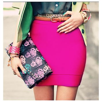 Bqueen Rose Red Sexy Bandage Skirt H050