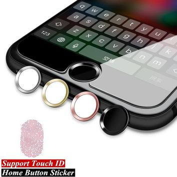 Aluminum Touch ID Home Button Sticker
