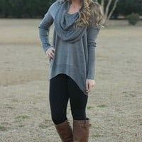 Wrapped Up In You Tunic: Stone - Lavish Boutique