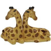 Westland Giftware Mwah Magnetic Giraffes Salt and Pepper Shaker Set, 3-1/2-Inch