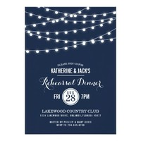 Summer String Lights Rehearsal Dinner Invitation