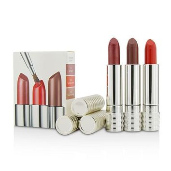 Long Last Lipstick Trio - #0A Runway Coral, #12 Blushing nude, #15 All Heart - 3x4g-0.14oz