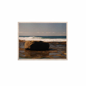 """Nick Nareshni """"The Lone Rock"""" Brown Blue KESS Naturals Canvas (Frame not Included)"""