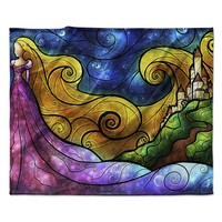 "Mandie Manzano ""Starry Lights"" Fleece Throw Blanket"