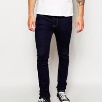 ASOS Super Skinny Jeans In Indigo at asos.com