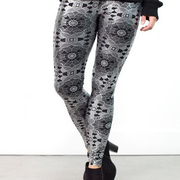 Metallic Kaleidoscope Leggings