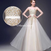 Free Shipping Custom made new long maxi formal dress Elegant Party  Prom Gown WU290