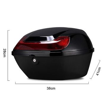 Motorcycle Trunk Waterproof ABS One Helmet Hard Tail Box Luggage case Motorcycle Trunk Bag Luggage Holder Storage