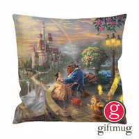 Beauty and The Beast Dancing Cushion Case / Pillow Case