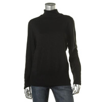JM Collection Womens Long Sleeves Banded Bottom Turtleneck Sweater