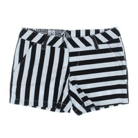 Volcom Womens Juniors Frochickie Flat Front Casual Shorts