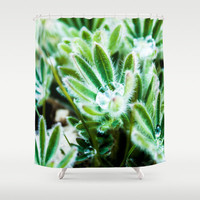 Green Leaf Shower Curtain, Floral Shower Curtain, Green Shower Curtain, Green Bathroom Decor, Nature Shower Curtain, Bathroom Art