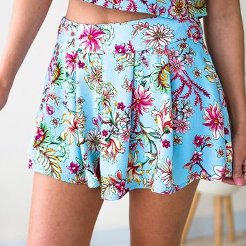 Bring the Heat Pleated Floral Shorts
