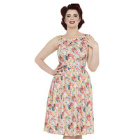 Pollyanna Painted Floral Flare Dress